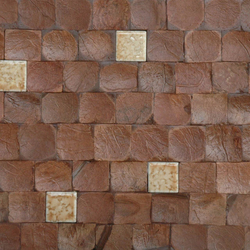 Cocomosaic tiles brown bliss with fan 115 | Mosaicos de pared | Cocomosaic