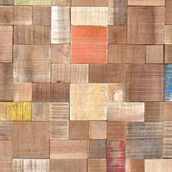Cocomosaic envi tiles puzzle multicolor | Coconut flooring | Cocomosaic