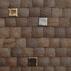 Cocomosaic tiles espresso grain with ceramic | Mosaïques en coco | Cocomosaic