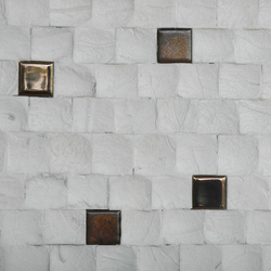 Cocomosaic tiles fancy white ceramic | Mosaïques en coco | Cocomosaic