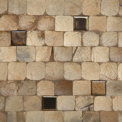 Cocomosaic tiles natural bliss with ceramic | Coconut mosaics | Cocomosaic