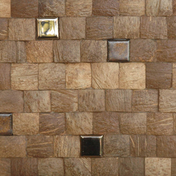 Cocomosaic tiles natural grain with ceramic | Mosaïques en coco | Cocomosaic