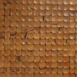 Cocomosaic wall tiles antique brown | Mosaïques en coco | Cocomosaic