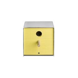 Twitter.Yellow Nesting Box | Bird houses / feeders | keilbach