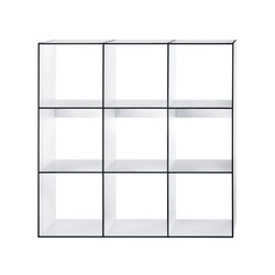 HP 9 Library 3x3 | Office shelving systems | Hansen