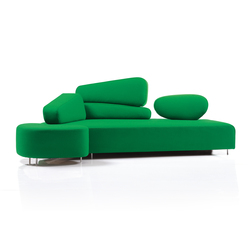 mosspink Seatingscape with stool | Divani lounge | Brühl