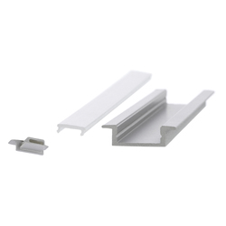 Aluminium Profiles 17.5 x 7.0 mm with collar | LED wall-mounted lights | UNEX