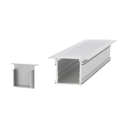 Aluminium Profiles 34.0 x 31.5 mm with collar | LED wall-mounted lights | UNEX