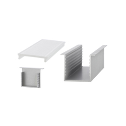 Aluminium Profiles 35.0 x 35.0 mm with collar | Lámparas de pared LED | UNEX