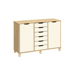 Otto modular cabinet OT63OLO | Kids storage furniture | Woodi