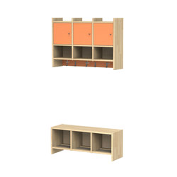 Wardrobe for children L910-3 | L911-3 | Cloakrooms | Woodi
