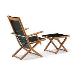 Tennis armchair adjustable with footrest | Garden armchairs | Fischer Möbel