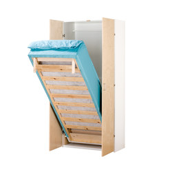 Foldable and storable bed AVK500 | Hostel beds | Woodi