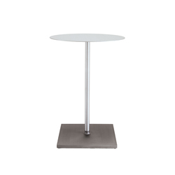 Round Brushed café table | Tables mange-debout | emeco