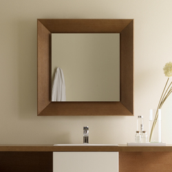 Espejo con marco oblicuo codis bath quadrado for Modelos de espejos con marcos de madera