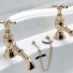 Antique Basin pillar taps | Wash-basin taps | Devon&Devon
