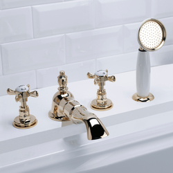 Antique 4 hole bath set | Bath taps | Devon&Devon