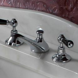 Black Dandy 3 hole basin set | Wash-basin taps | Devon&Devon