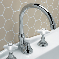White Rose 3 hole basin set | Wash-basin taps | Devon&Devon
