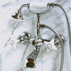 White Rose Bath and shower mixer - wall mounted | Bath taps | Devon&Devon