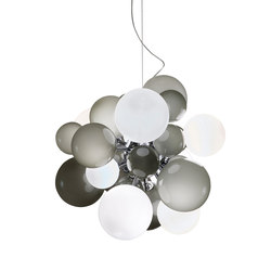 Digit Chandelier | Ceiling | soft grey | Pendelleuchten | Emmanuel Babled