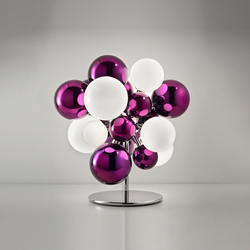 Digit Chandelier | Floor | mirrored purple | Tischleuchten | Emmanuel Babled