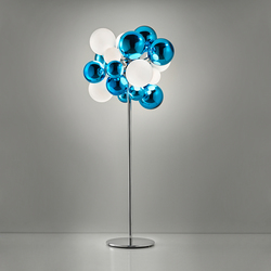 Digit Chandelier | Standing | mirrored aquamarine | General lighting | Emmanuel Babled
