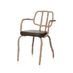 Plain Clay Dining Chair with arm | Sillas | DHPH