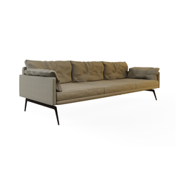 Tan Triple Sofa | Canapés d'attente | Nurus