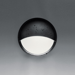 Pantarei 190 Half-light screen black | Outdoor wall lights | Artemide Architectural