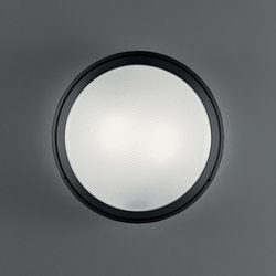 Pantarei 390 polycarbonate black | Outdoor wall lights | Artemide Architectural