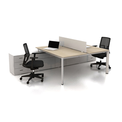 Plato Double Working Desk | Desking systems | Nurus