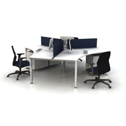 Plato Triple Working Desk | Sistemas de mesas | Nurus