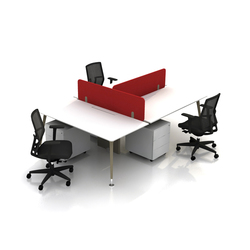 Selezionata di sistemi di scrivanie per 3 persone for Bureau rond 4 personnes
