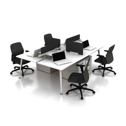 U too Quadro Desk | Desking systems | Nurus