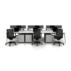 U too Six Fold Desk | Desking systems | Nurus