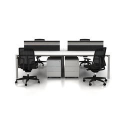 Silva Double Working System | Systèmes de tables de bureau | Nurus