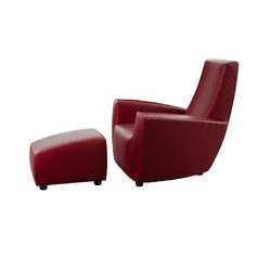 Longa armchair with footstool | Lounge chairs | Label