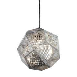 Etch Pendant Steel | Suspensions | Tom Dixon