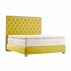Sleeping Systems Collection Platinum | Headboard Diamant Brut | Double beds | Treca Paris
