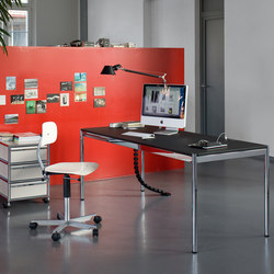 USM Haller Table | Dark Warm Gray | Tables collectivités | USM