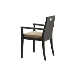 Capital chair with armrests | Chaises de restaurant | Billiani