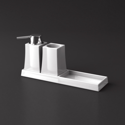 S7 Tray (tumbler+soap dispenser) | Mensole / supporti mensole | SONIA