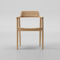 Hiroshima Arm Chair High (Wooden Seat) | Sedie ristorante | MARUNI