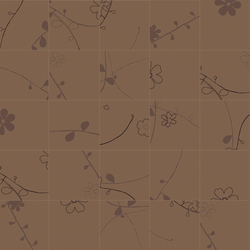 Bloom Tabacco fiori mix/4 | Tiles | Cerim by Florim