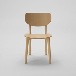 Roundish Armless Chair (Wooden seat) | Restaurant chairs | MARUNI