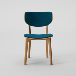 Roundish Armless Chair (Cushioned) | Chaises de restaurant | MARUNI