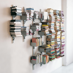 Totem | At-Wall Book Storage | Regale | Aico Design