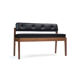 Acorn II Dining Bench | Upholstered benches | Bark