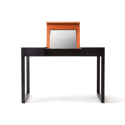 Rémy – Oak Stained, upholstered with orange calf leather | Dressing tables | Wildspirit